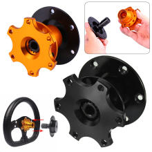 Mayitr Universal Car Steering Wheel Snap Off Quick Release Hub Adapter Boss Kit Auto Release Device Black/Gold(China)
