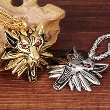 Titanium steel jewelry Domineering fashion stone lion necklace for men Male money pendant accessories(China)