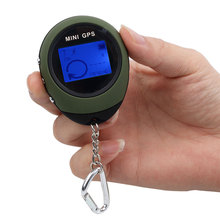 Handheld Mini GPS Navigation USB Rechargeable Location Tracker with Compass Universal Keychain Compass For Outdoor Travel(China)
