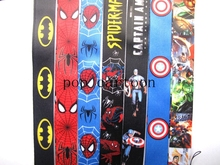 Free Shipping 20 Pcs Popular Mix Superhero key chains Phone Neck Straps Keys Camera ID Card Lanyard H-16(China)