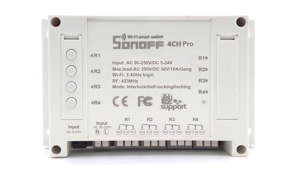 Sonoff 4CH Pro, wifi switch light alexa, sonoff 4ch wifi