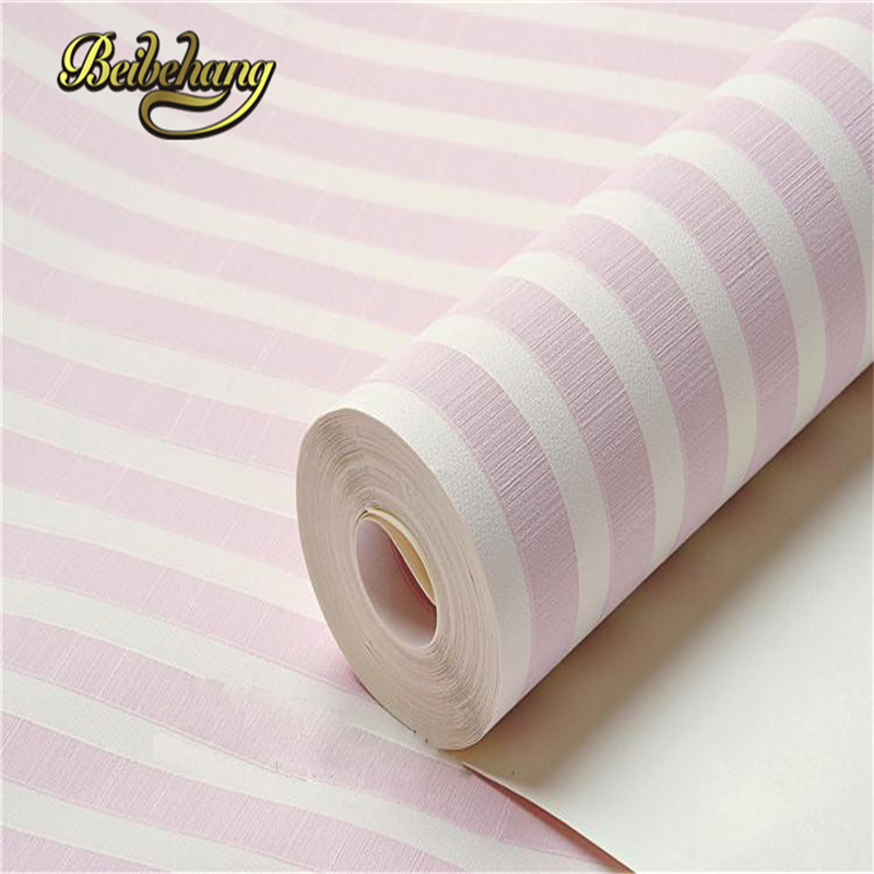 beibehang papel de parede. childrens pvc striped wallpaper modern for kids room walls roll boy and girl wall coverings<br>