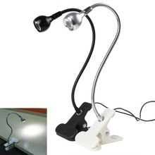 hot Flexible Goose Neck USB LED Lamp Table / Desk Light with Clip & On / Off Switch