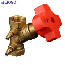Manufacturers supply Brass DN32 1-1/4 inch balance valve Radiator Valve cooper steam heat valve for plumbing(China)