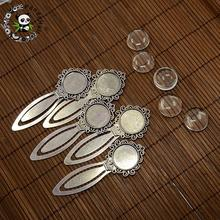 20mm Clear Domed Glass Cabochon Cover for Antique Silver DIY Alloy Portrait Bookmark Making, Cadmium Free & Nickel Free & Lead