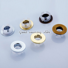 2 pieces/lot bathroom sink bathtub brass overflow cover silver antique golden black color optional