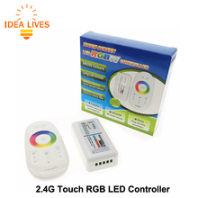 2.4G RGBW LED Controler Touch DC12-24V 24A RGBW Remote Controller for RGBW LED Strip.