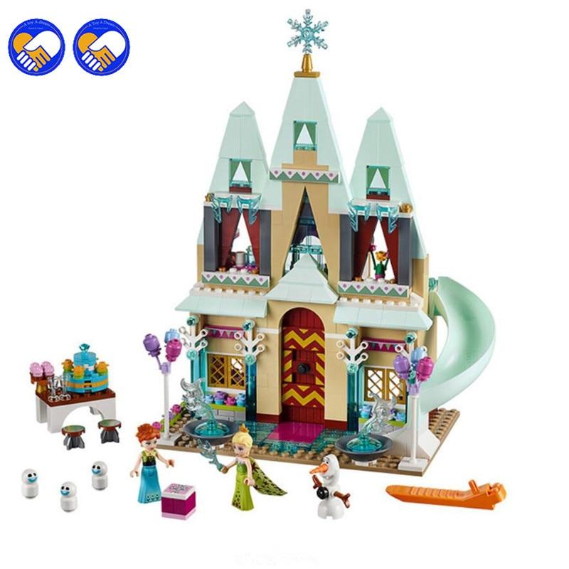 A toy A dream SY371 Cinderellas Yilundaier Castle Anna Elsa Building Blocks Educational Brick Toys For Girls Lepin<br>