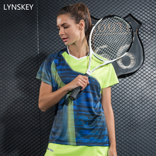 LYNSKEY Women Badminton Shirt Short Table Tennis Clothing Breathable Tennis Jersey Sports Athletic Shirt Quick Dry(China)