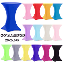 10pcs Round Based Stretch Bar Table Covers Spandex Lycra Cocktail Table Covers For Hotel Party Wedding Decoration