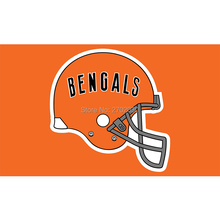 Orange Helmet Cincinnati Bengals Flag Super Bowl Champions Football Team Fans 3ft X 5ft Banner 100D Polyester Banners 90x 150 Cm