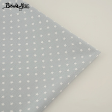 100% Cotton Fabric Gray Color Star Pattern Design Sewing Cloth Patchwork Bedding Tecido Children Cloth Bed Sheet DIY Decoration(China)