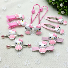 Fashion New Hair Accessories Hello Kitty Christmas Gift Girl Hair Clip Lady Headband Bow Hairpins Box Jewelry Kids Cute Ring Gum