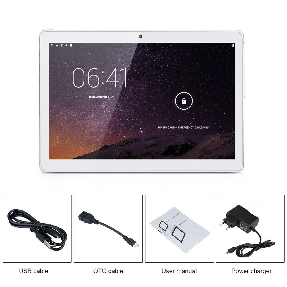 Ultra Slim Design 10 inch 3G 4G Lte Tablet PC 10 Core 4GB RAM 64GB ROM Dual SIM Card Android 6.0 IPS tablet PC 10 Free shipping (4)