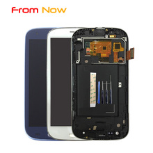 Replacement LCD For Samsung Galaxy S3 SIII i9300 i9301 i9308 Lcd screen Display+Touch Glass Digitizer Assembly(China)