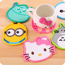 1pc Cute cartoon minion Silicone cup mat Coffee Drink Placement Coaster GC11 Free shipping