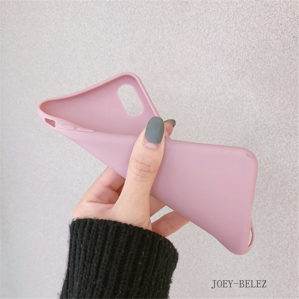 Matte Phone Cases For iPhone 7 Candy Case For iPhone X 7 6 6S 8 Plus 6 6S Case Cover XR XS MXA Coque Silicon Fundas Capa Carcasa03