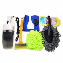 Buy 8Pcs/Set Car Interior & Exterior Wash Cleaning Tools Kit Vacuum Cleaner + Snow Shovel + Sponge + Glove + Brush + Towel for $29.58 in AliExpress store