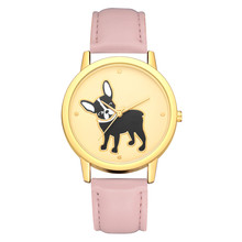 Gofuly Women Fashion Luxury Leather Quartz Round Watch Women Lovely Cartoon Animal Print Watches relogios feminino montre femme(China)