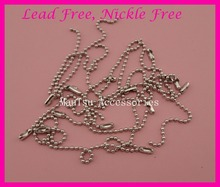 100PCS 10.0cm length 2.4mm thickness Metal Beads Chains for key chain or to attach hang tags at lead free and nickle free