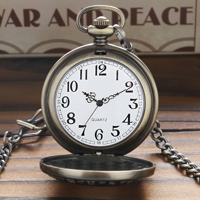 Vintage Wood Round Case Pocket Watch Luxury Quartz Analog Half Hunter for Men Women Fob Wooden Watch with Chain Gift Bag Ulzzang 2017 (7)