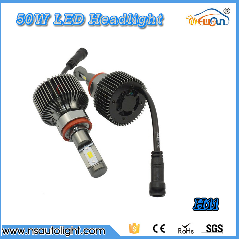 50w *2 100W High Power LED Auto Car Bulb H11 HeadLight LED White High or Low Beam LED daytime running light Drl free shipping<br><br>Aliexpress