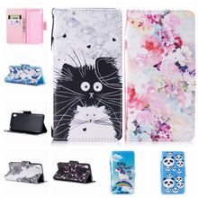 For Coque Sony Ericsson XA Case Luxury Painted Cartoon Magnetic Flip Wallet PU Leather Cover For Sony XA Phone Case(China)