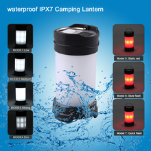 Max 350Lumen Camping Light 18650 Battery Portable 7 Model Bright Tent Lantern Lights Water Resistant Campsite Lighting LED Lamp
