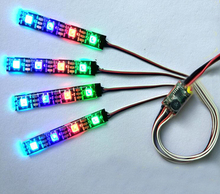 RC model aircraft night lights WS2812 colorful lights strip light for model airplane spare parts quadcopter drone accessories 5V(China)