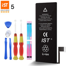 100% IST Original Mobile Phone Battery For iPhone 5 Real Capacity 1440mAh With Repair Tools Kit And Battery Sticker