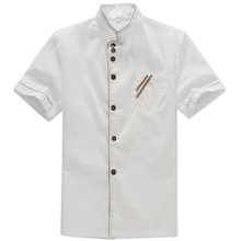 Chef's Clothing Short Sleeve Summer Restaurant Hotel Chef Cake Pastry Workwear Breathable Khan Cotton Summer Restaurant