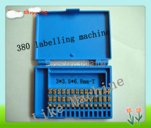 3*3.5*6.8mm,70pcs/box, English letter, Number font, characters for date coder, hot stamp coder,for 380 labelling machine