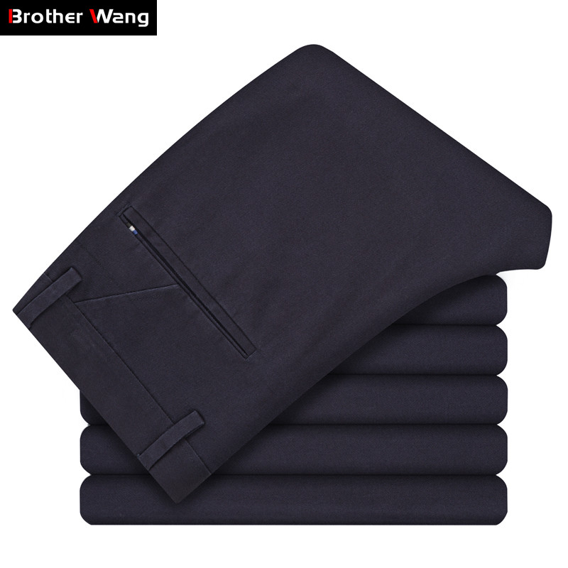 2019 Autumn Winter New Men's Casual Pants Business Fashion Cotton Slim High Quality Elasticity Trousers Male Brand Clothes