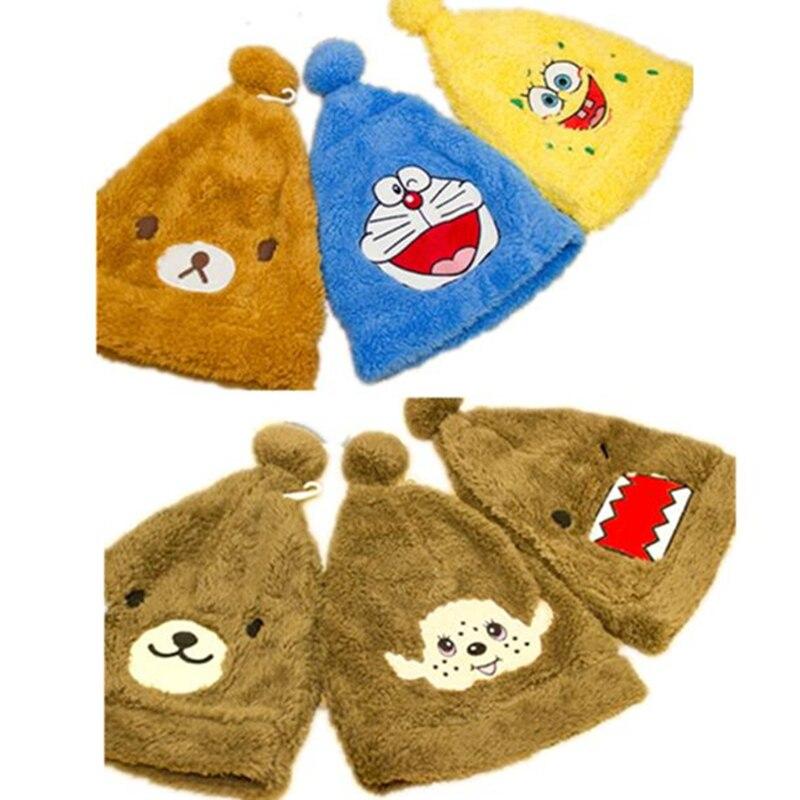 NEW ARRIVAL Christmas WINTER Beanies cartoon hats Furry headwear ANIMAL hat KT/stitch/Rilakkuma bear/bunny/domo kun cosplay giftÎäåæäà è àêñåññóàðû<br><br><br>Aliexpress