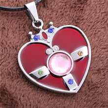 2015 Hot Online Titanium Steel chain Jewelry Pendant Valve Sailor Moon Sign Heart Necklace the Turret free shipping(China)