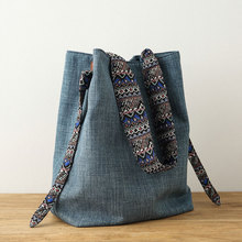 2017 COTTON Cloth shoulder bags Handmade  Canvas Leisure  handbags Original design New Products all match Casual leisure Bags