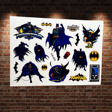 25 Design Water Transfer Flash Tattoo Stickers Kids ACG-072 Fake Waterproof Cartoon Temproary Tattoo Children Superheros Tatoos(China)