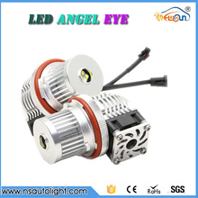 2017 New product 40w cree chips led angel eyes with fan 4000lm super bright E39 led headlights angel eyes for BMW X5 E53