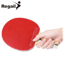 REGAIL D - 007X Shake-hand Grip able Tennis Racket Ping Pong Paddle Pimples In rubber Ping Pong Racket Racket Pouch High quality