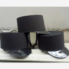 black brief hotel door man hat military hat chinese guard hat hotel products black hat restaurant(China)