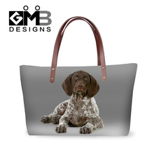 Dispalang 3D red pointer printing handbags for women girls shopping totes bags ladies top-handle shoulder bags woman beach bags