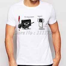 2017 Newest Men's Funny Music Player Printed T-Shirt Summer Cool Tops Fashion Tees