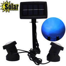 New arrival Garden Pool Pond Yard Lights Outdoor Spot Light 12LEDs Solar Spotlights with solar panel lawn Solar Lamps
