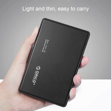 "Original ORICO 2.5"" inch Hard Drive Enclosure Tool-free USB 3.0 HDD Caddy External SSD Case for SATA HDD SSD Black color(China)"