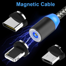 USB C Type Magnetic Charger Charging Cable iPhone Magnet Cable Android Micro USB Type-C Charge Wire Galaxy S7 S8