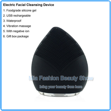 Men Skin Care Tool Mini Silicone Sonic Electric Facial Cleansing Brush Cleaner Face Deep Clean Machine Beauty Instrument