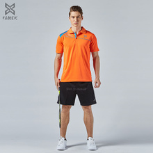 high quality badminton polo shirts short sleeve sports kits table tennis t shirts set men breathable golf shirt set suits 2017(China)