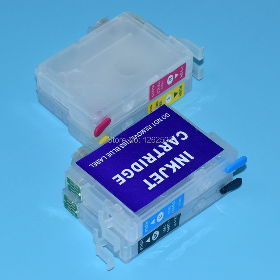 T126 For Epson Workforce 520 635 refillable ink cartridge with chip T1261-T1264<br><br>Aliexpress