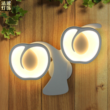 Contemporary LED Wall Light Acryl Apple Screen Bedroom Lamp 15-30W Wall Lamp White Lighting Lamp Bedside Lamp(China)