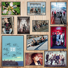 Korean band BTS Coated paper poster  Bar Cafe High quality Printing Drawing core Decorative Painting